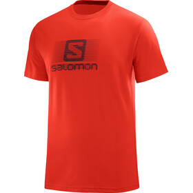 Salomon M's Blend Logo SS Tee fiery red
